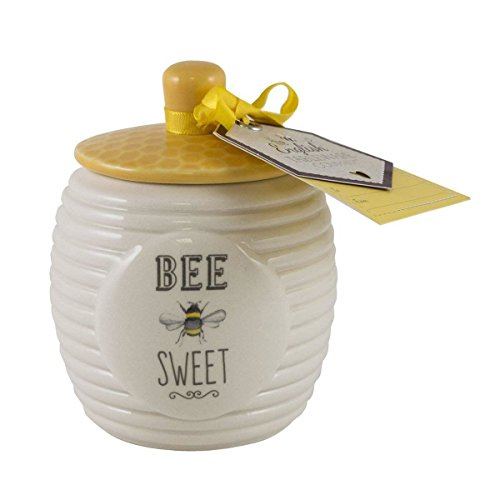 English Tableware Company Bee Happy Bee Sweet Sugar Pot