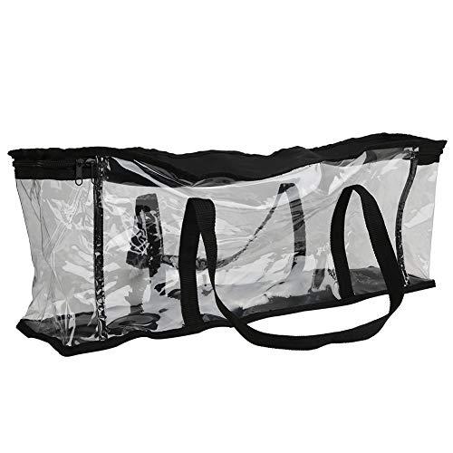 Gaeirt Bolsa de cosméticos Transparente, Bolsa de tocador de PVC Liviana, Resistente al Agua, portátil para Viajes y artículos de tocador