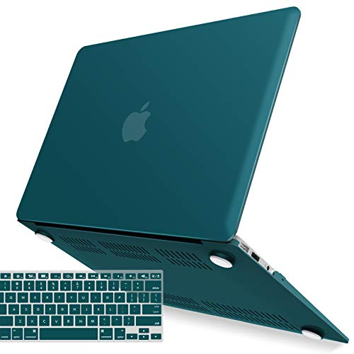 IBENZER Old Version (2010-2017 Release) MacBook Air 13 Inch Case (Models: A1466   A1369), Plastic Hard Shell Case with Keyboard Cover for Apple Mac Air 13,Quezhal Green, A13QUGN+1