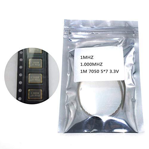 Phoncoo 10pcs SMD 5070 Active Crystal oscillator OSC 1MHZ 1.000MHZ 1M 7050 5x7 3.3V 25PPM