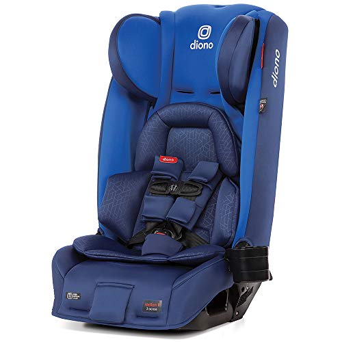 Diono Radian 3RXT All-In-One Convertible Car Seat, From Birth to 54 kg (120 lbs), Blue