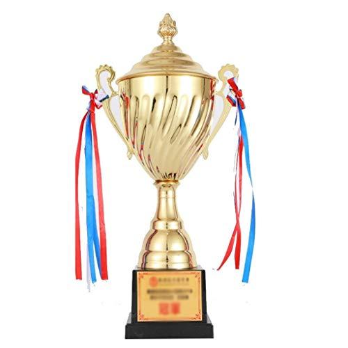 Trofei, medaglie e premi Champion Trophy Cristallo Creativo Concorso Annual High-End Placcato Oro Accessori (Color : Gold, Size : 11 * 11 * 33cm)