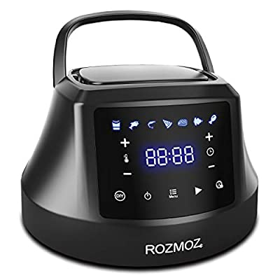 Rozmoz 7-in-1 Pressure Cooker Air Fryer Lid for Instant Pot 6 QT, Turn Your Pressure Cooker Into Air Fryer in Seconds with LED Touchscreen and ETL Safety Protection