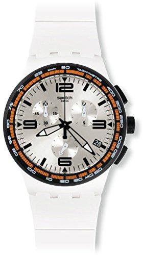 Swatch Reloj de Cuarzo Unisex White Blades 42 mm