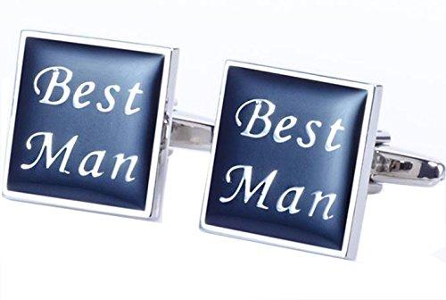 Gudeke Best Man Émail rectangulaire boutons de manchette mariage groomsman