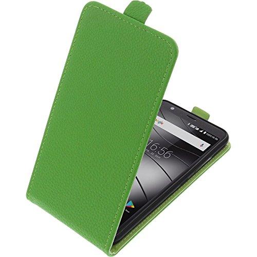 foto-kontor Tasche für Gigaset GS370 / GS370 Plus Smartphone Flipstyle Schutz Hülle grün