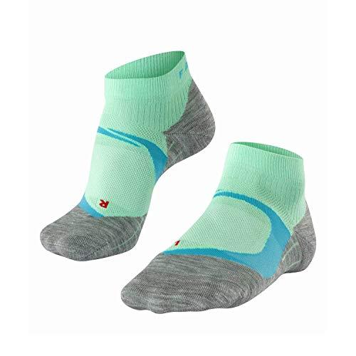 Falke Ru4 Cool Short W Shs - Calcetines de correr para mujer, Mujer, Calcetines para correr, 16749, Verde (After eight), 39-40