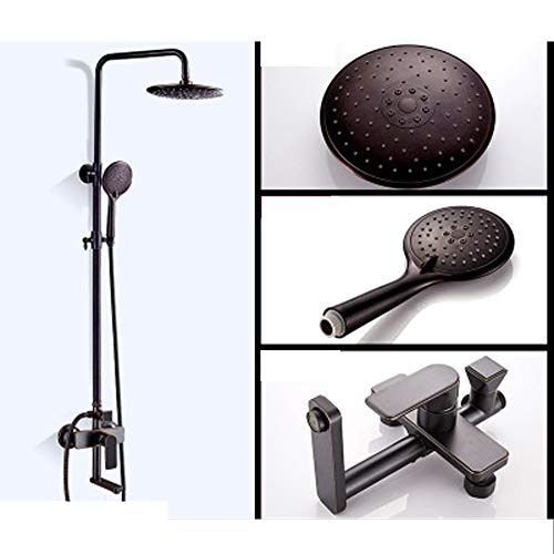 Cheapest Price! LJQHS Black Shower Set, All Copper Shower, Nordic Bathroom Toilet Set, Hotel Househo...