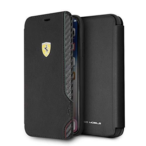 Ferrari Funda Tipo Libro Compatible iPhone X/XS con Tarjetero
