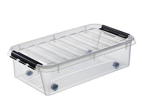 Orthex 3541570 Clipbox Smart Store Classic 35 / 35 L Volumen, transparent / mit Rollen