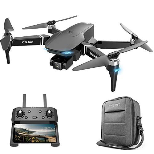 HEDI S189 - Drone RC pieghevole con fotocamera 4 K per bambini adulti, 5 G WiFi GPS FPV, LED senza spazzole quadricottero, tempo di volo 25 minuti
