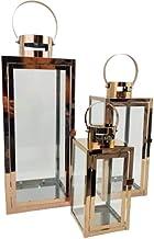 Lanterna Marroquina Cobre Rose Gold 47/35/25cm Inox Kit 3pc