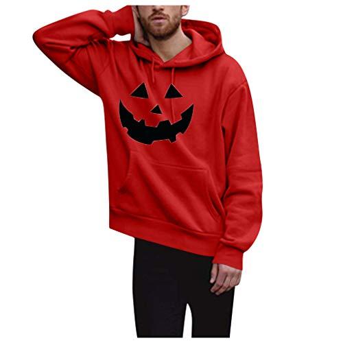 Halloween Männer Hoodies Kapuzenpullover Herren Sweatshirt Unheimlich bedruck Pullover Party Outdoor Sportjacke Sweatjacke Langarm Tops CICIYONER