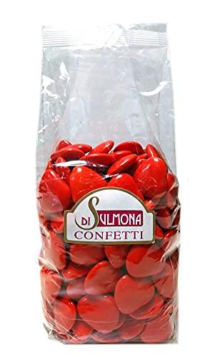 Confetti di Sulmona Cuori al Cioccolato, Rosso - 500 gr