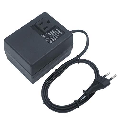 Semoic Transformador Convertidor de Voltaje de 300W 220V una 110V Transformador de Voltaje de Viaje Reductor Convertidor Enchufe Europeo