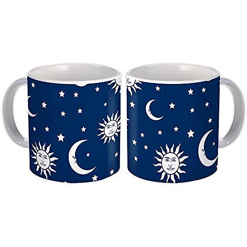 Impresiones Sun Moon Star : Regalo Jarra : Patrón de cielo nocturno Frente a techo Decoración Cocina Baño
