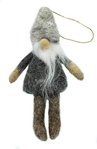 feelz - 2er Set Anhänger Wichtel Weihnachten Baumschmuck gefilzter Wichtelanhänger Geschenkanhänger Weihnachtsdeko Nikolaus - Fairtrade