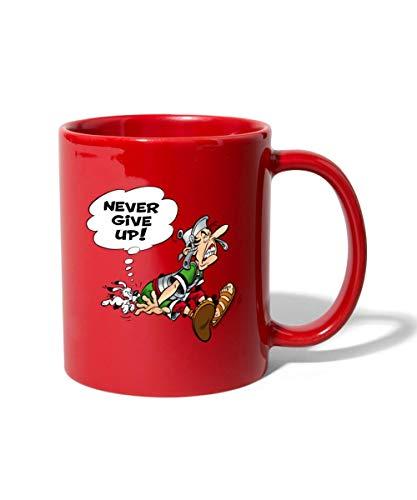Asterix & Obelix Gib Niemals Auf Tasse einfarbig, Rot