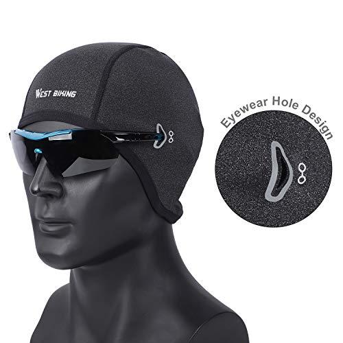 WESTGIRL Fahrrad Mütze, Skull Cap Bike Warm Cap für Herren Damen, Winddicht Thermal Fleece Atmungsaktiv, Wintersport Mütze Kopfbedeckung für Laufen, Radfahren, Skifahren - 2