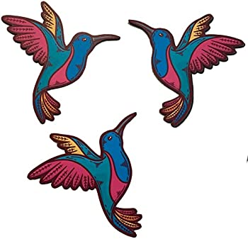 Colorful Printed Beautiful Three Hummingbirds Flexible Screen Magnet  Multipurpose Double-Sided for Non-Retractable Screens Helps to Stop Walking into Screen  Size W 4.4  x L 4.5  Each