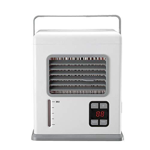 YHSGD Acondicionador de Aire portátil de Mano Recargable Acondicionador USB Mini refrigerador de Aire Pantalla Digital Ventilador de enfriamiento de Aire para el hogar de la Oficina