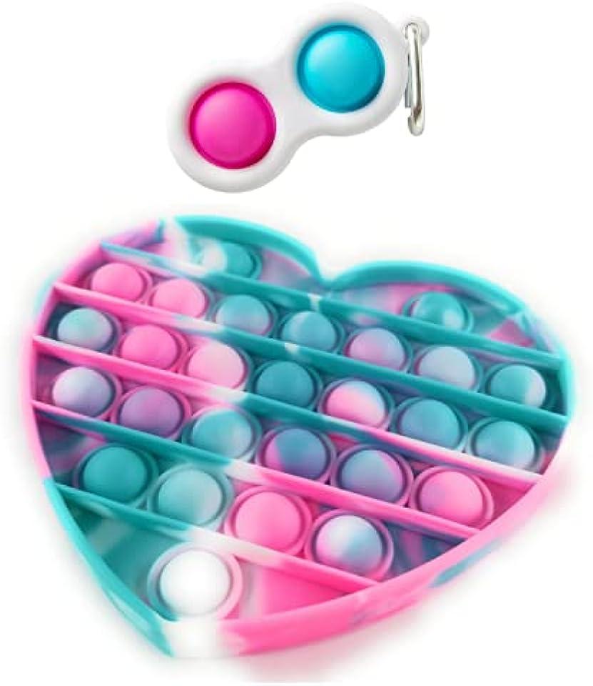 JDW limitless Tie Dye Push Pop It Bubble Sensory Fidget Toy, Autism Special Needs Stress Reliever Anxiety Relief Toys, Extrusion Bubble Fidget Sensory Toy (Pink+blue)