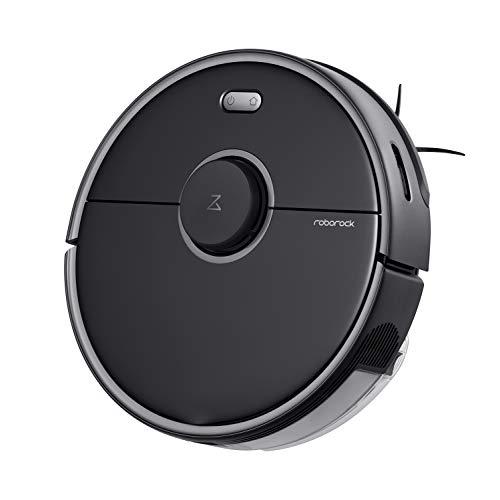 Roborock S5 Max - Robot de limpieza y succión (potencia de aspiración 2000 Pa, batería 150min, polvo de 460ml, agua de 290ml, 69dB, algoritmo de ruta adaptable, control por app/voz) negro