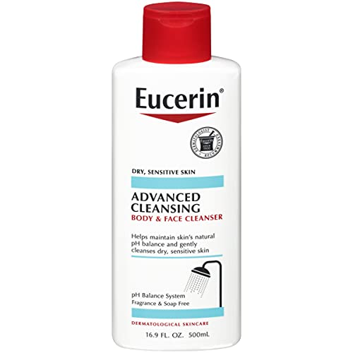 Eucerin Advanced Cleansing Body and Face Cleanser - Fragrance and Soap Free for Dry, Sensitive Skin - 16.9 fl. oz Bottle