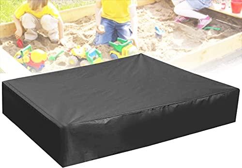 RECHCIGA Funda Arenero Cubierta Arenero Infantil 120x120 CM Lona para Arenero Infantil Impermeable Cobertor Piscina Cuadrada de Tela Oxford con Cordón para Proteger Caja de Arena   Piscina   Jardín