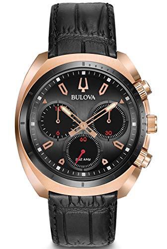 Bulova Reloj Cronógrafo para Hombre de Cuarzo con Correa en Cuero 98A156