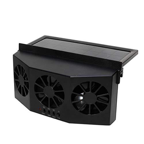 IBISHITAOXUNBAIHUOD 4W de escape solar universal Eléctrico Auto ventilador enfriador ventana de ventilación Ventiladores de ventilación del acondicionador de aire del ventilador del radiador coche