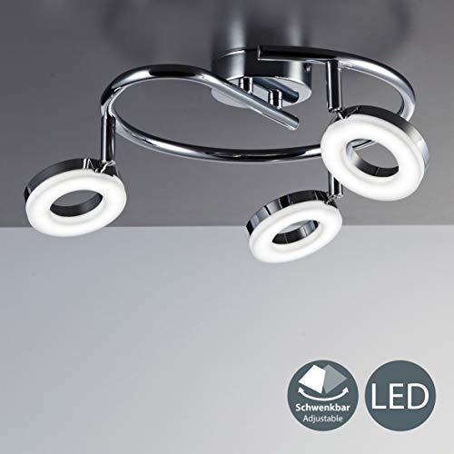 LED Deckenleuchte I dreh- & schwenkbar I Chrom I 3 x 4,5W 450LM LED Platine I IP20 I warmweiß 3000K I Deckenlampe