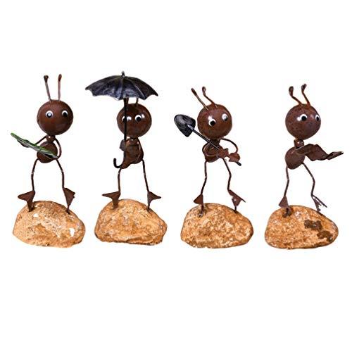BESPORTBLE - 4 Modelos de Hormigas de Hierro, Lindos y adorables, adorables y creativos, para Escritorio, Hierro, artesanía, Hormigas, Juguete para el Coche de Oficina en el hogar