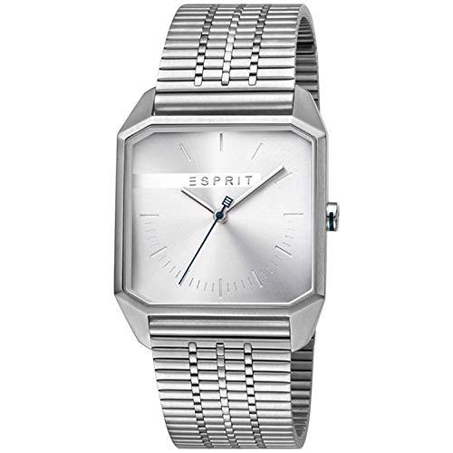 Esprit Herren Analog Quarz Uhr mit Edelstahl Armband ES1G071M0045
