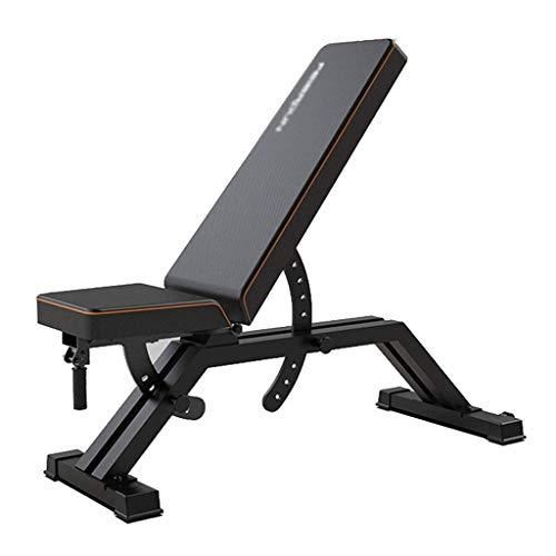 Bonheur Folding Gewicht Tisch Bank mit Hanteln Hocker mit Hanteln Bauchbankdrücken for Heimcomputer Startseite Sit-ups Sichere und stabile Hilfsmittel (Farbe: schwarz, Maße: 130 * 57 * 55 cm)