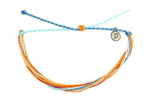 Pura Vida Jewelry Bracelets - Citrus Surfline Bracelet - 100% Waterproof and Handmade w/Iron-Coated Copper Charm