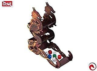 e-Raptor ERA19111 Towers: Dice Tower-Firestarter Dragon (Black), Multicolore