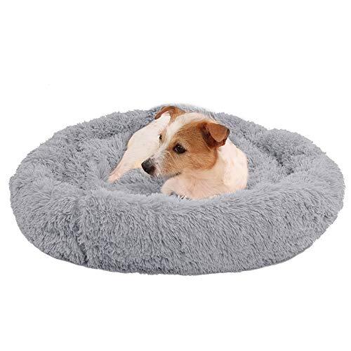 Cama para perros cómoda con forma de donut Hug Quilt redonda para mascotas, muy suave y lavable, accesorio para mascotas