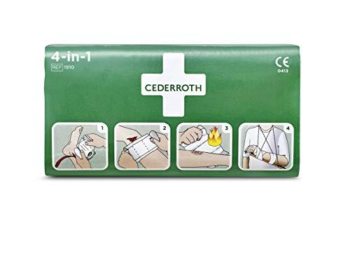 Cederroth ® | 4-in-1 Blutstiller | Steriler Universalverband mit 4 verschiedenen Funktionen zur Versorgung von Blutungen, Wunden, Verbrennungen und als kurzzeitiger Stützverband