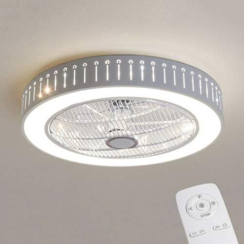 Ventilador de techo moderno de 40 W con mando a distancia, regulable LED, lámpara de techo regulable, ventilador de techo, adecuado para salón dormitorio habitación de los niños candelabro