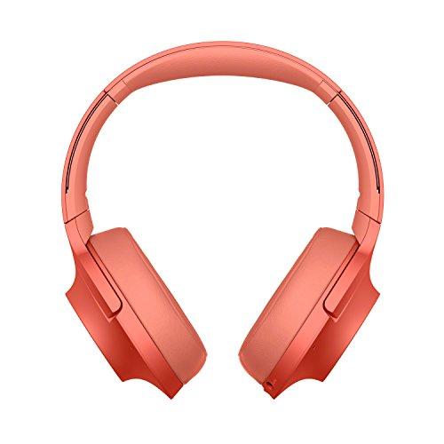 Sony WH-H900N Draadloze koptelefoon met hoge resolutie (Noise Cancelling, Bluetooth, NFC, accuduur tot 34 uur), zwart rood