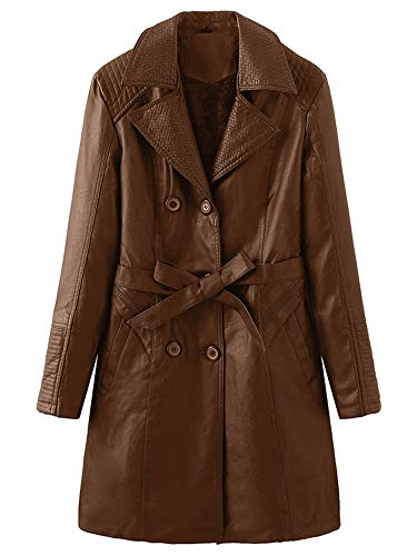 Morton PegfwaS Mittellanger Damen Trenchcoat Plus Fleecejacke, Winddichte Jacke