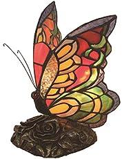 """Kreatywna dekoracyjna lampa w stylu vintage w stylu vintage, kolorowe motyle, ręcznie robiona lampa stołowa, lampa biurkowa do sypialni, lampa Sold only in""""Collection Outlets"""""""