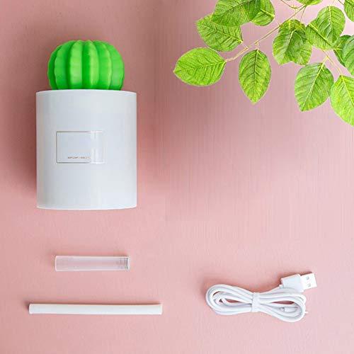 LeftSuper Humidificador de Aire USB Cactus Ball Humidificador de Aire con luz LED Atomizador para el hogar Fabricante de Niebla