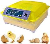 LYRONG Incubatrice per Uova, Incubatrice Automatica con Controllo della Temperatura, Rotazione Automatica, per Uova di Pollo da cova/Anatra/Oca/quaglia,48 Eggs