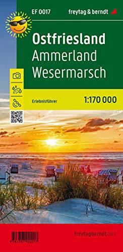 Ostfriesland, Ammerland, Wesermarsch, Erlebnisführer 1:170.000 (freytag & berndt Wander-Rad-Freizeitkarten)