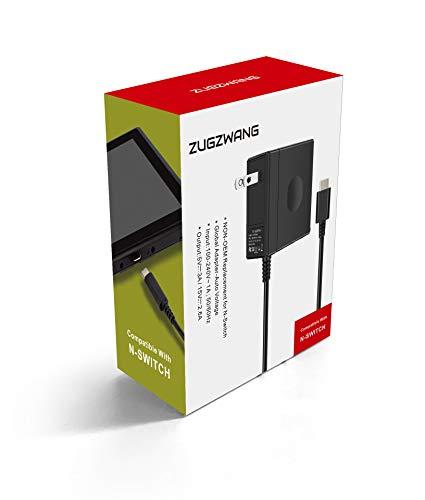 ZUGZWANG AC Adapatador para Nintendo Switch/ Nintendo Switch Lite, Fuente de poder del adaptador que soporta modo TV