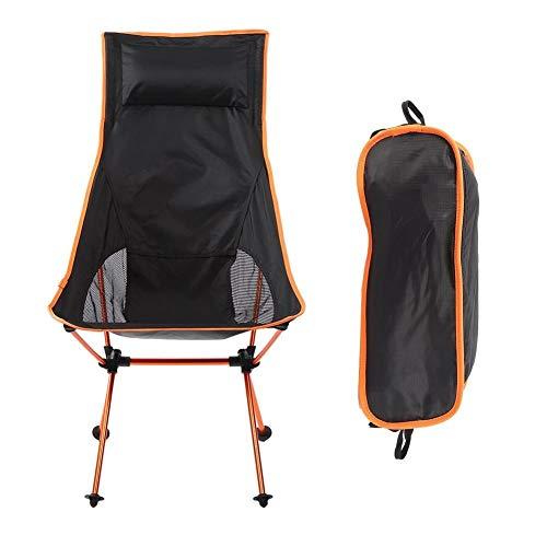 Heitune Camping Chair, Sedia Pieghevole in Lega di Alluminio 7075 Luna Sedile con Cuscino for Beach Escursionismo Pesca Picnic All'aperto