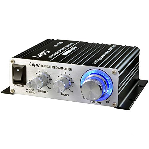Mini Amplifier, Mochatopia Home Audio Stereo Hi-Fi Power Amplifier, 2...