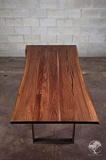 LIVE EDGE BLACK WALNUT DINING TABLE (72in x 38in x 30in)